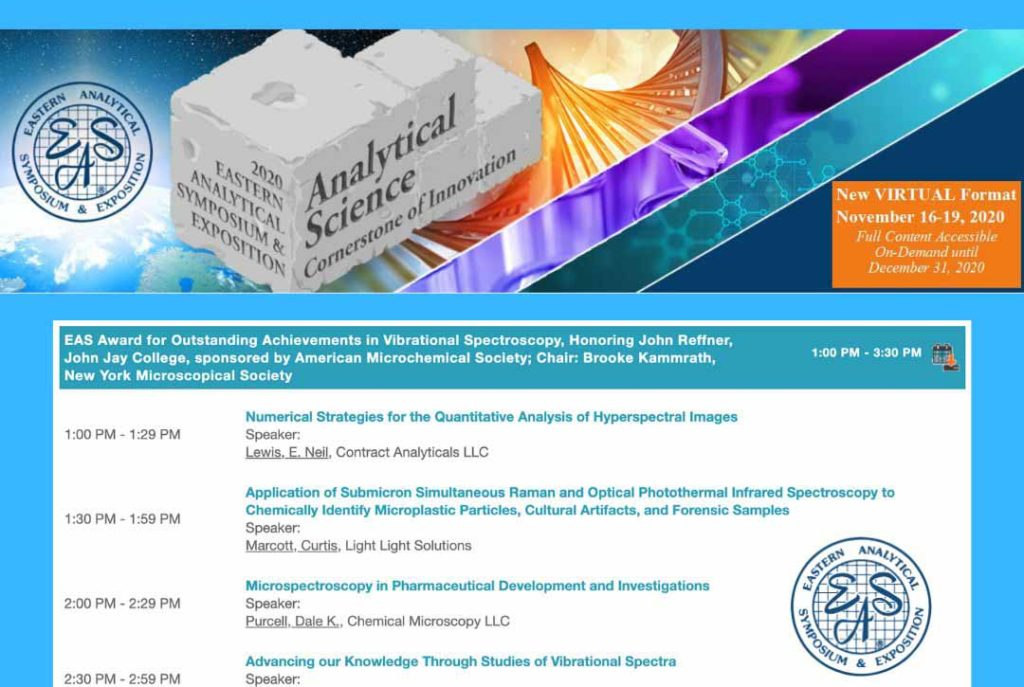 Microspectroscopy Presentation Schedule